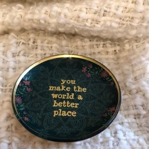 """Other - Glass dish """"you make the world a better place"""""""